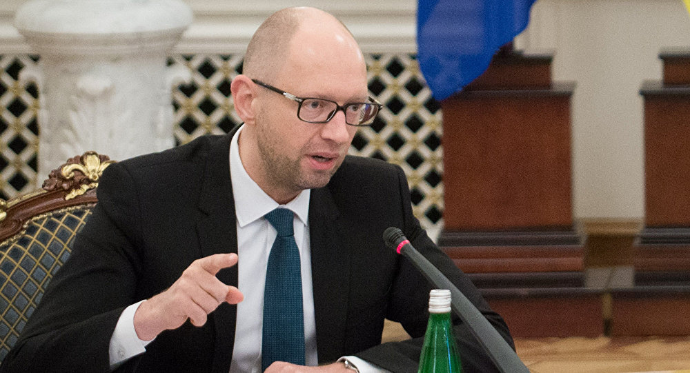 Ukrainian Prime Minister Arseny Yatsenyuk seen here during a meeting of the Defense and Security Council of Ukraine
