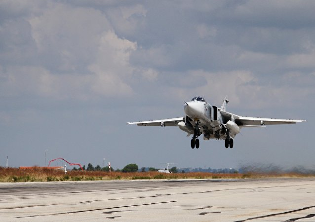 Russian military aviation at Hmeymim airbase in Syria