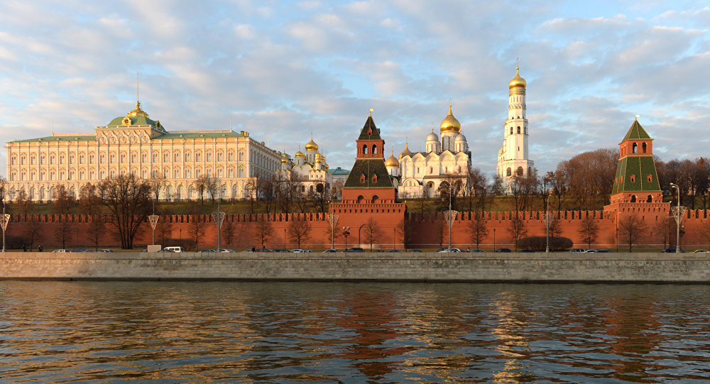 The Kremlin as seen from the Sofiiskaya Embankment.