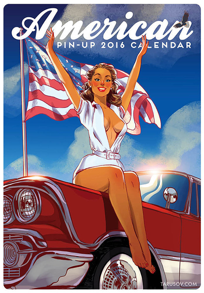 New 2016 Pin-Up Calendar: 'Best American Sights and Girls'