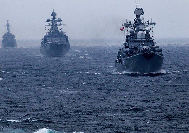 Russian Pacific Fleet warships