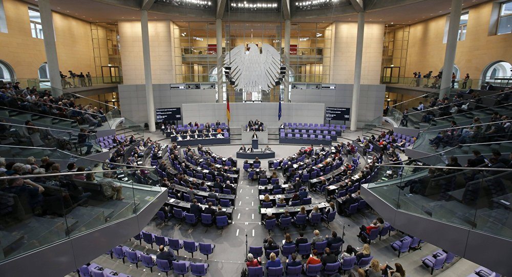 A general view of a session of the Bundestag, the German lower house of parliament, in Berlin, Germany