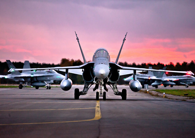 Finnish air force F-18 Hornet aircraft