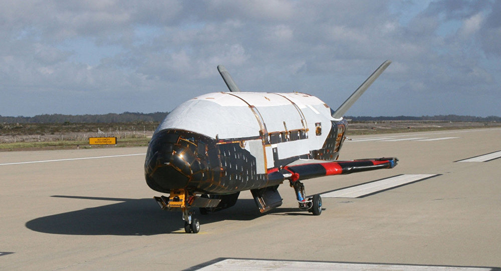 This June 2009 photo made available by the US Air Force via NASA shows the X-37B Orbital Test Vehicle at Vandenberg Air Force Base, California.
