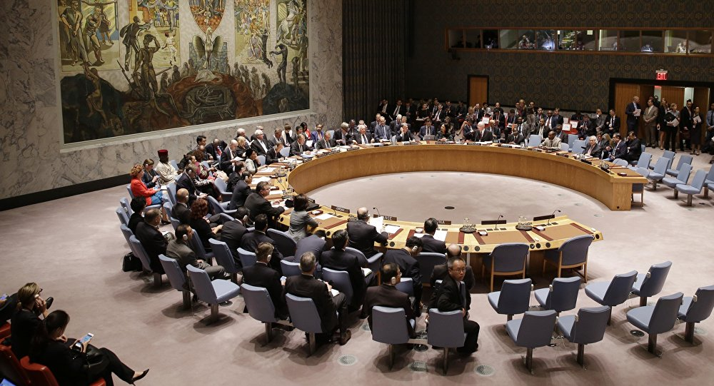 The U.N. Security Council meets at United Nations headquarters, Wednesday, Sept. 30, 2015