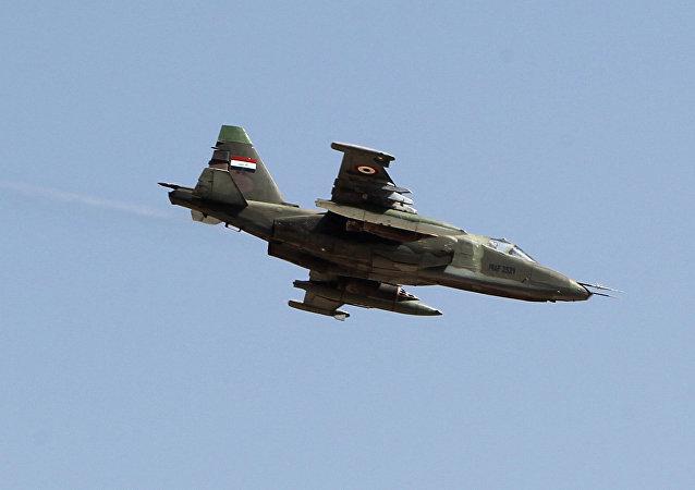 An Iraqi Sukhoi Su-25 jet