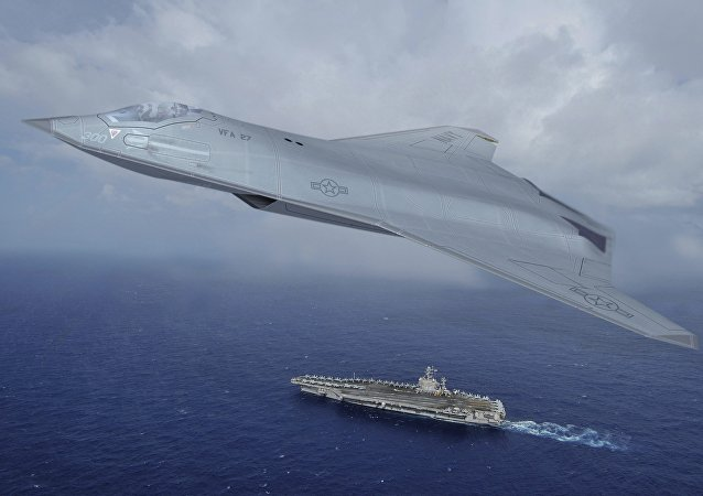 An artist's rendering of what the next generation U.S. fighter jet might look like is seen in this handout photo provided by Northrop Grumman Corporation, December 12, 2015