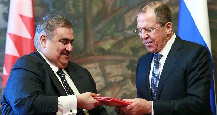 Foreign Minister Sergey Lavrov meets with Foreign Minister of Bahrein Khalid bin Ahmad Al Khalifa