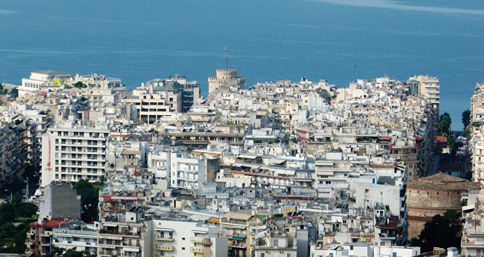 A view of the city of Thessaloniki in Greece
