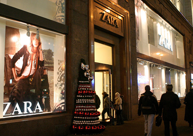 Zara boutique in Tverskaya, Moscow's main street