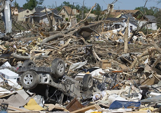 Cars and homes lay in ruins in Tuscaloosa, Alabama (File)