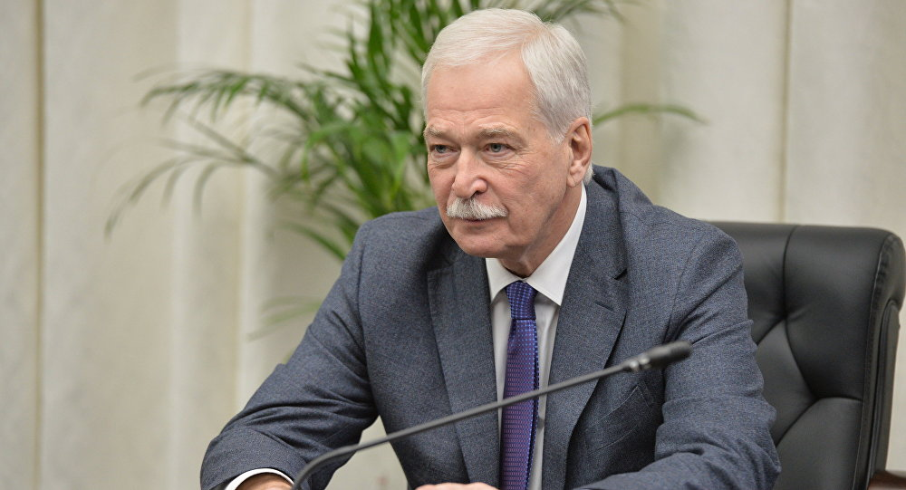 December 19, 2014. Permanent Member of the Russian Security Council, Chairman of the Supreme Council of the United Russia Party Boris Gryzlov during the Russian Security Council meeting at the Russian Defense Control Center