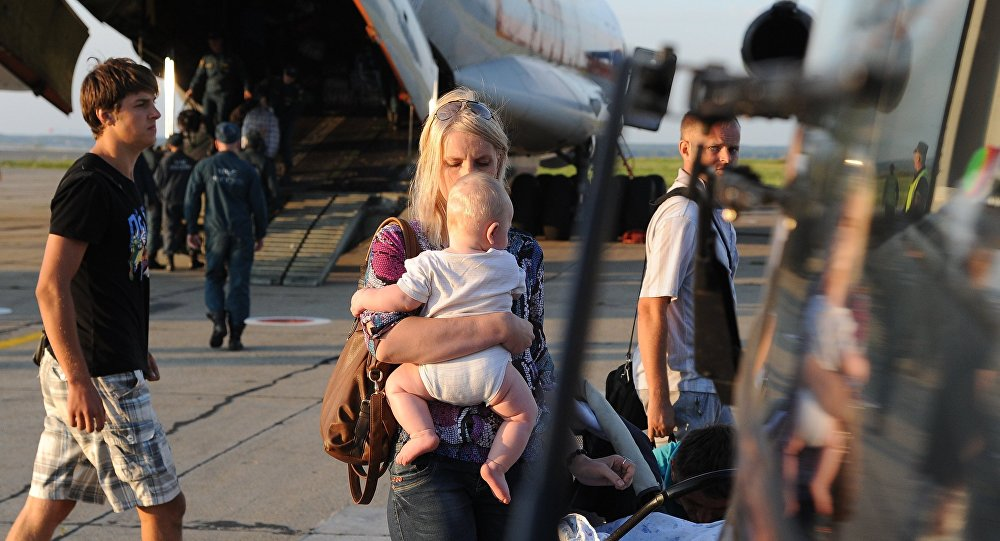 EMERCOM aircraft carrying Ukrainian refugees arrives in Chelyabinsk