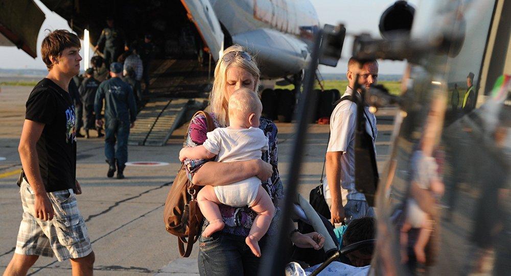 EMERCOM aircraft carrying Ukrainian refugees arrives in Chelyabinsk