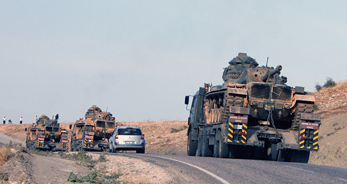 Turkish army's tanks at the Turkey-Iraq border. File photo.