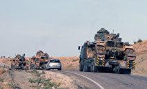 Turkish army's tanks at the Turkey-Iraq border (File)