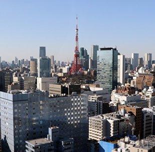 Skyline of central Tokyo