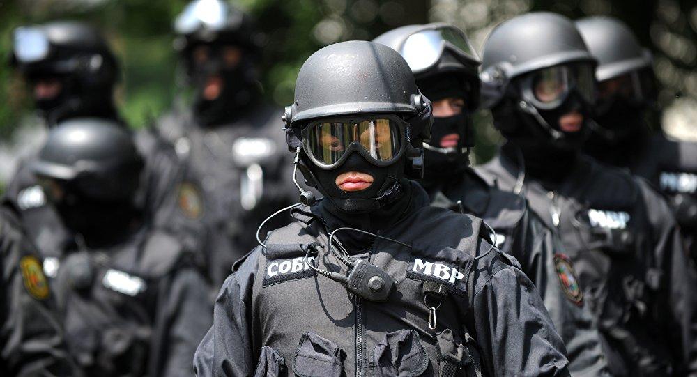 A special anti-terror police unit participate in an anti-terror drill in Bulgarian capital Sofia