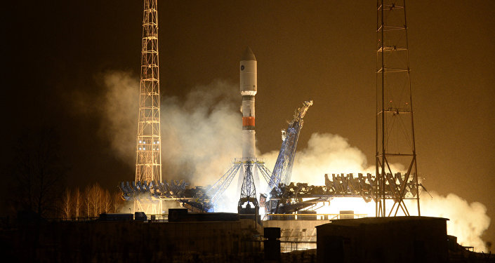 Launch of rocket carrier Soyuz-2.1b from Plesetsk cosmodrome