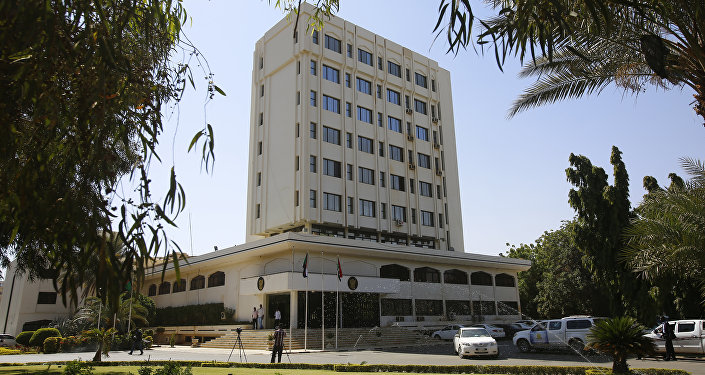 A picture taken on January 3, 2016, shows the Sudanese ministry of foreign affairs in the capital Khartoum