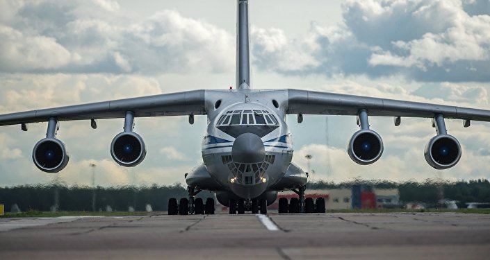 An Il-76 military transport plane
