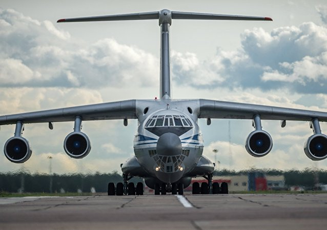 An Il-76 military transport plane in Omsk, Siberia.