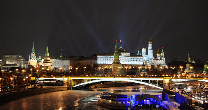 A view of the Moscow Kremlin.