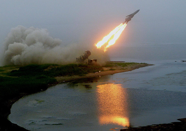 Launch of coastal rocket complex Redoubt. File photo
