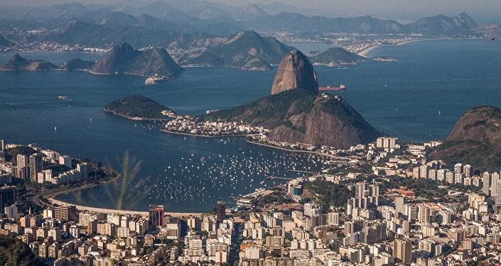A view of Rio de Janeiro from Christ the Redeemer, Brazil