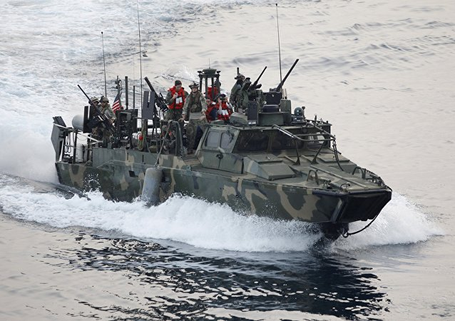 A U.S. Navy riverine gun-boat patrols during the International Mine Countermeasures Exercise (IMCMEX) at the Middle East Gulf, in this May 13, 2013 photo. Iran detained 10 U.S. sailors aboard two U.S. Navy riverine boats in the Gulf on Tuesday in an incident that rattled nerves days ahead of the expected implementation of a landmark nuclear accord with Tehran.
