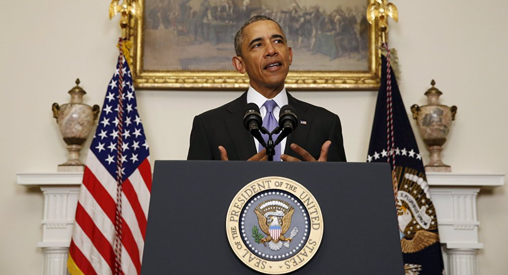 U.S. President Barack Obama delivers a statement on Iran at the White House in Washington, January 17, 2016