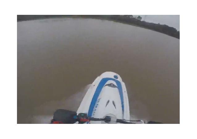 Jet Skiing through Flooded Park