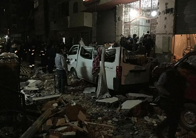 A bomb blast outside of a Cairo apartment building killed six people.