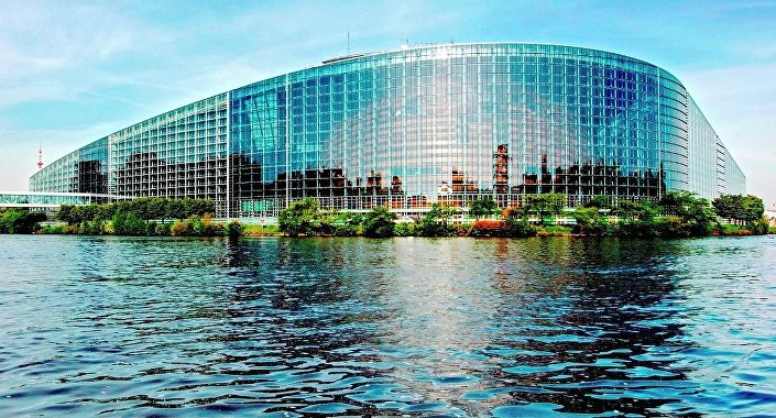 The European Parliament in Strasbourg, France.