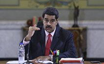 Venezuela's President Nicolas Maduro speaks during a meeting with deputies of Venezuela's United Socialist Party (PSUV) and ministers at Miraflores Palace in Caracas, in this handout picture provided by Miraflores Palace on January 22, 2016