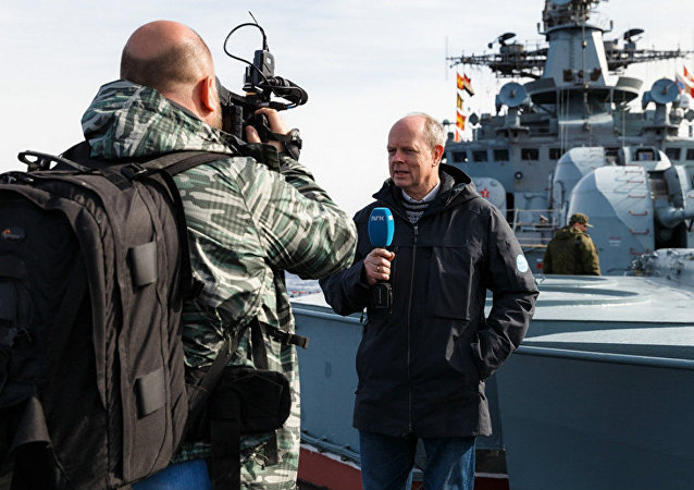 Journalists onboard the ships of the Russian permament naval group in the Mediterranean Sea