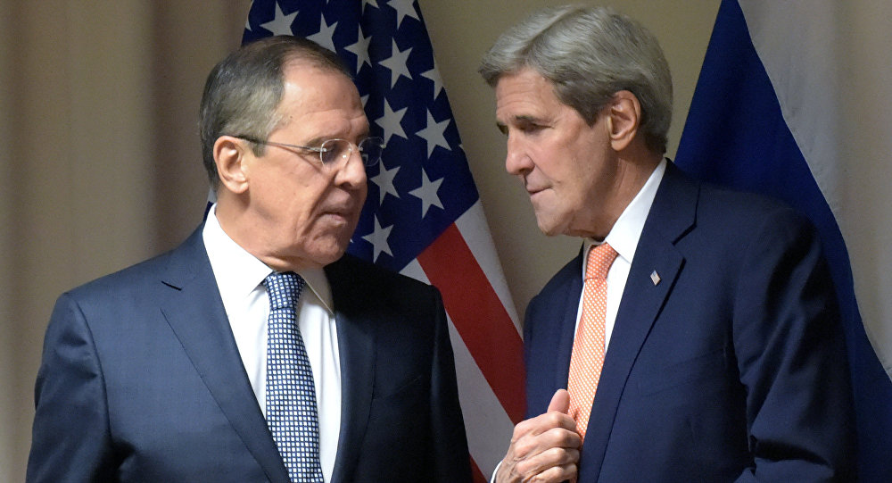 Russian Foreign Affairs' Minister Sergei Lavrov's meeting with US Secretary of State John Kerry