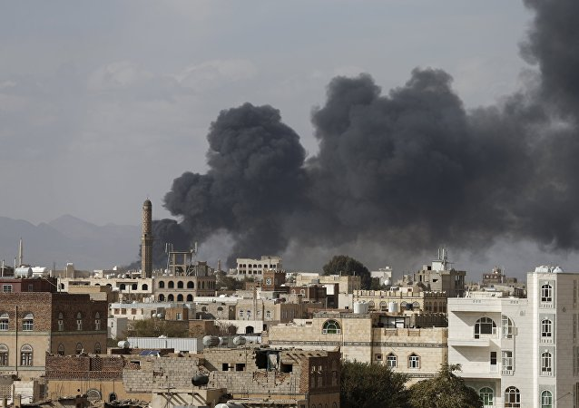 Smoke billows from a site hit by Saudi-led air strikes in Yemen's capital Sanaa January 30, 2016