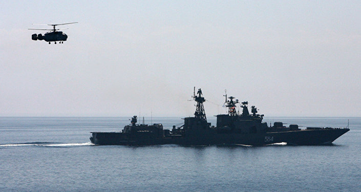 Russian warships have started searching for mines and submarines in the Black Sea and the Caspian Sea in the framework of the Southern Military District combat readiness check drills