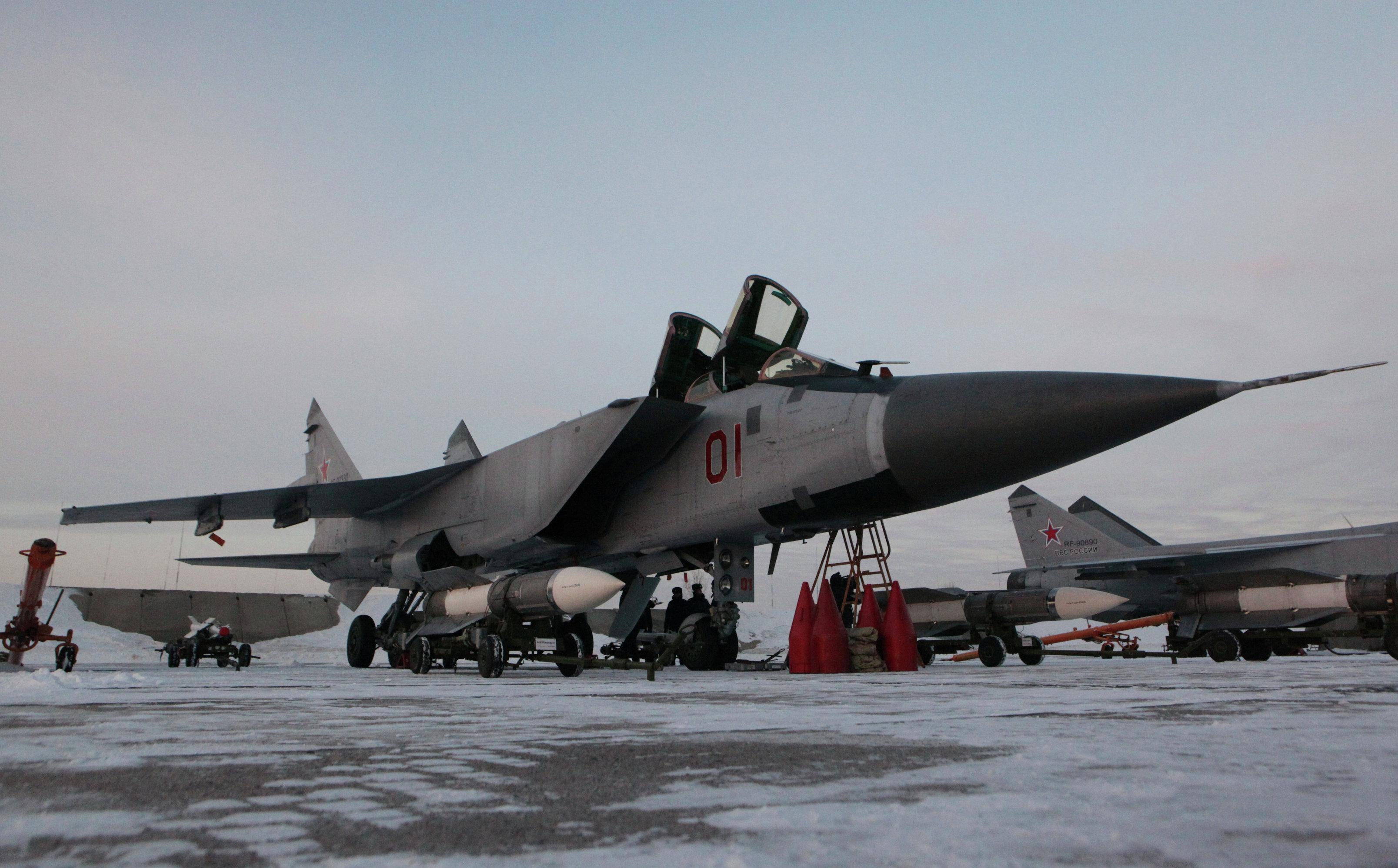 Interceptor fighter MiG-31BM