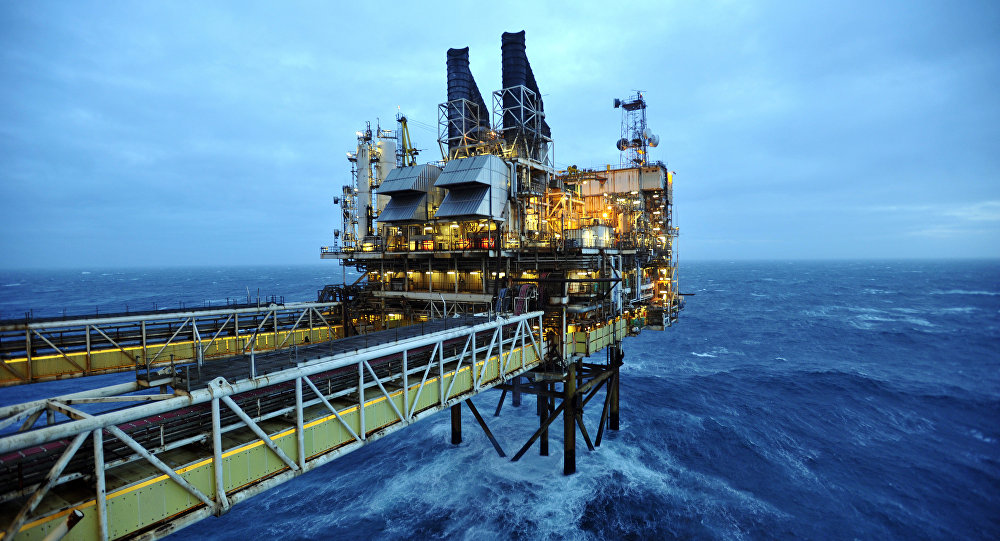 Section of the BP ETAP (Eastern Trough Area Project) oil platform in the North Sea, around 100 miles east of Aberdeen, Scotland. (File)