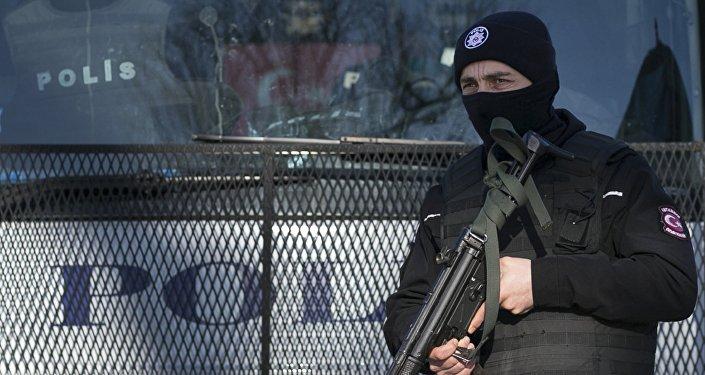 Turkish police officer