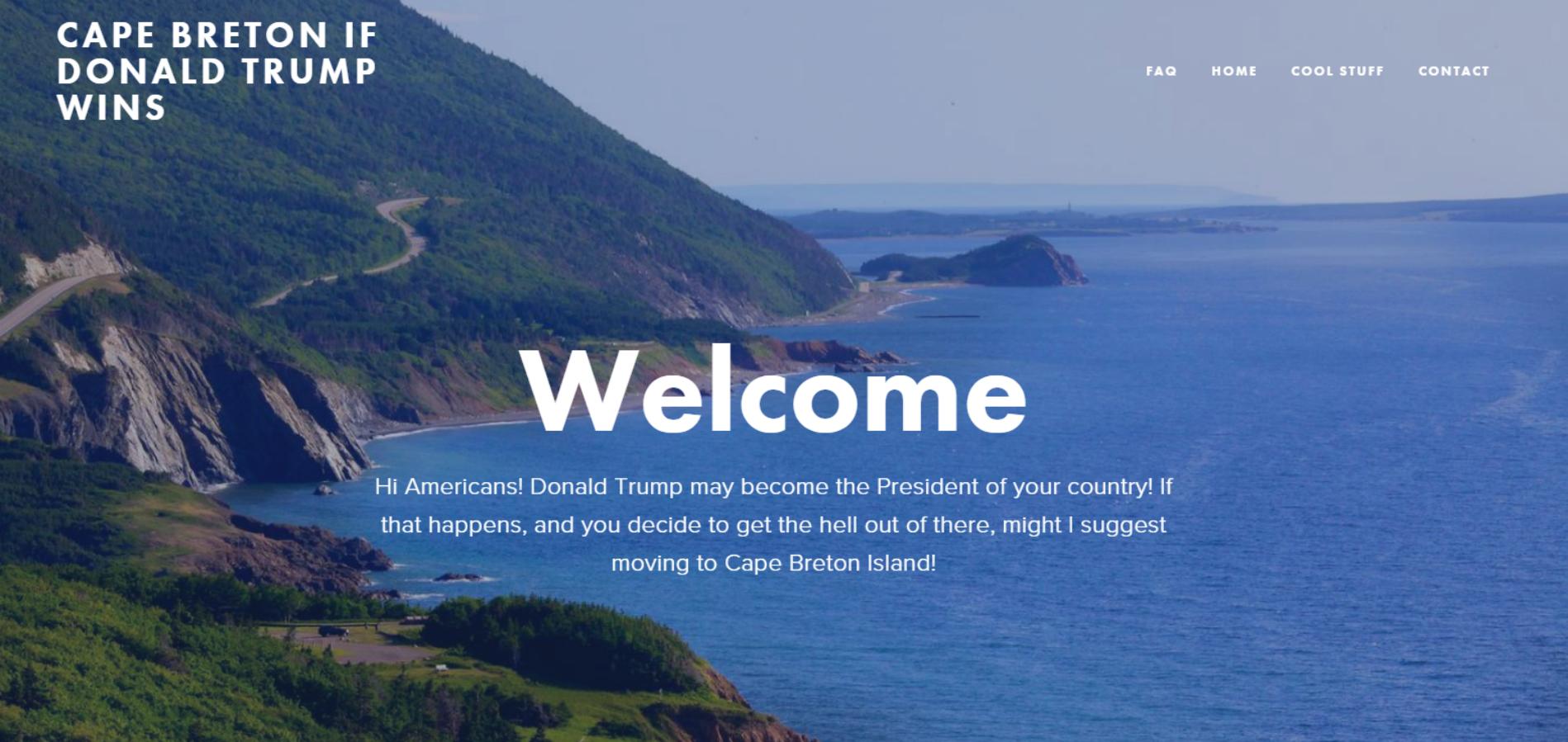 A Trump-Free land.