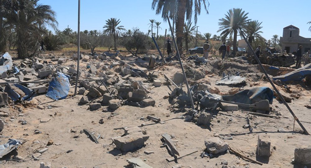 A view shows damage at the scene after an airstrike by U.S. warplanes against Islamic State in Sabratha, Libya (File)
