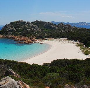 Spiaggia Rosa, 'Pink Beach,' on the island of Budelli off the coast of Sardinia