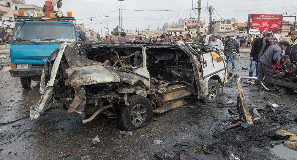 Terror act in Homs