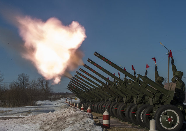 Training of soldiers of 449th Detached Firing Division in Western Military District