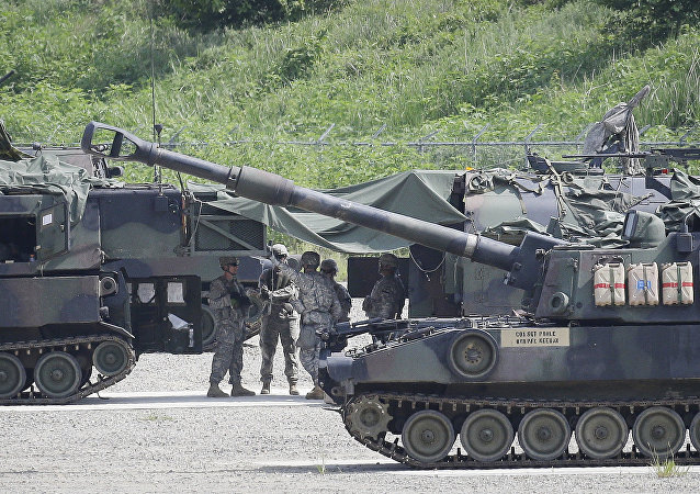 U.S. Army soldiers prepare for a military exercise in Pocheon, south of the demilitarized zone.
