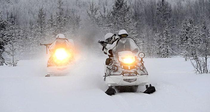 Army snowmobiles