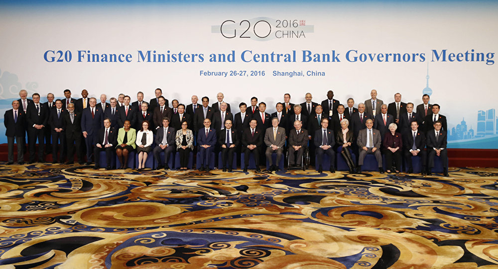 G20 Finance Ministers and Central Bank Governors Meeting at the Pudong Shangri-la Hotel in Shanghai, Saturday, Feb. 27, 2016